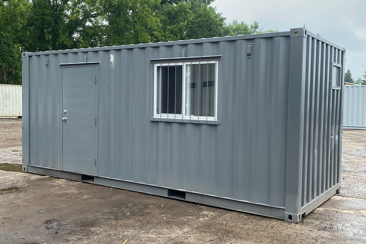 Basic Shipping Container Office 20ft - TargetBox 01