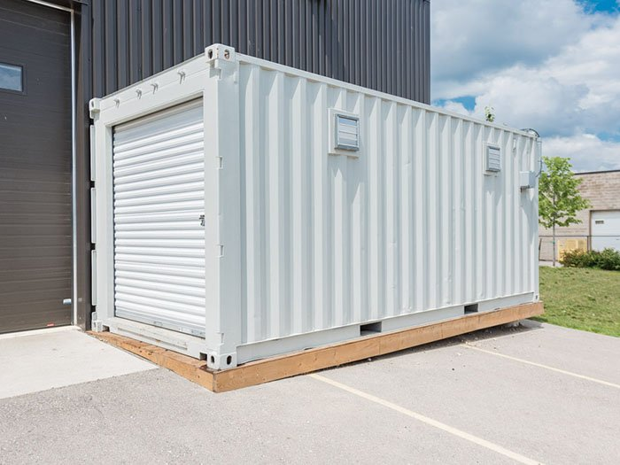 Shipping Container Modification 8' Roll Up Door- TargetBox Ontario