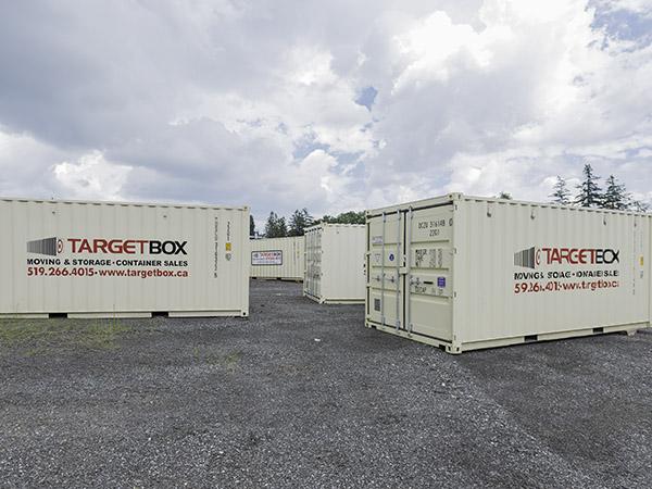 Storage on Secured Yard - TargetBox Ontario