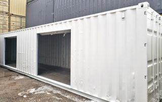 40ft Shipping Container With Roll-Up Doors - TargetBox Sea Can Modifications