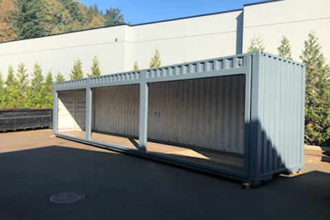 40ft sea container with roll-up doors - TargetBox Shipping Containers - 1