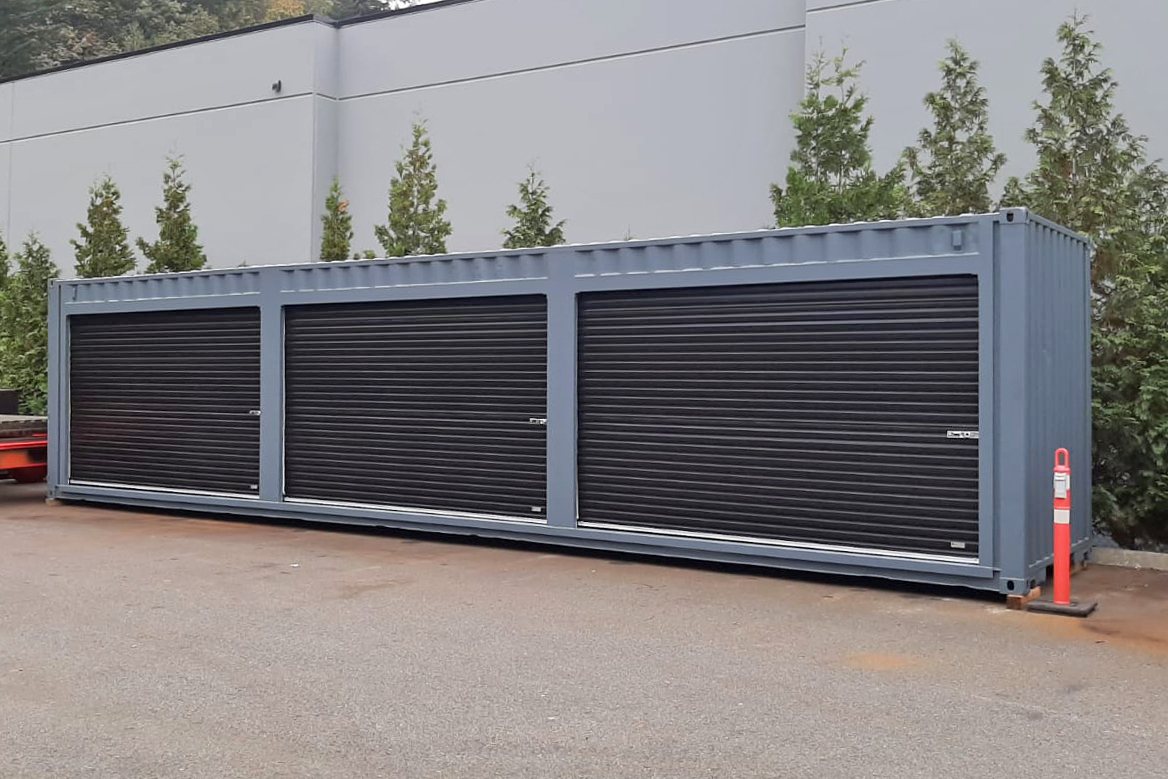 40ft sea container with roll-up doors - TargetBox Shipping Containers