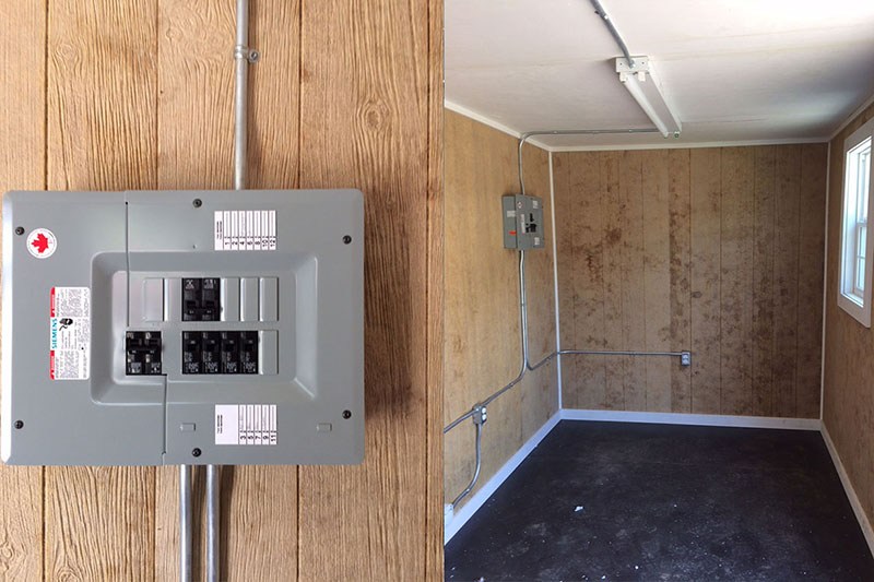 Shipping Container with Electrical Installation - TargetBox Ontario