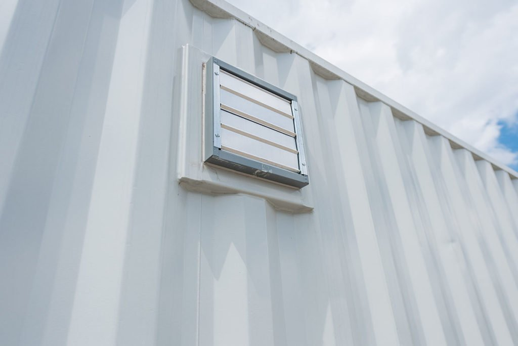 Shipping Container with Ventilation Holes - TargetBox