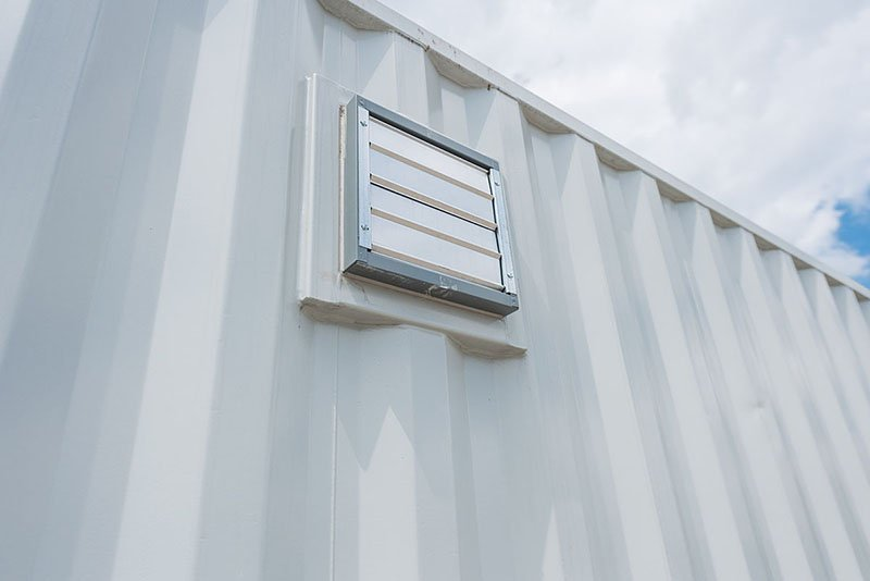 Shipping Container with Ventilation Holes - TargetBox Ontario