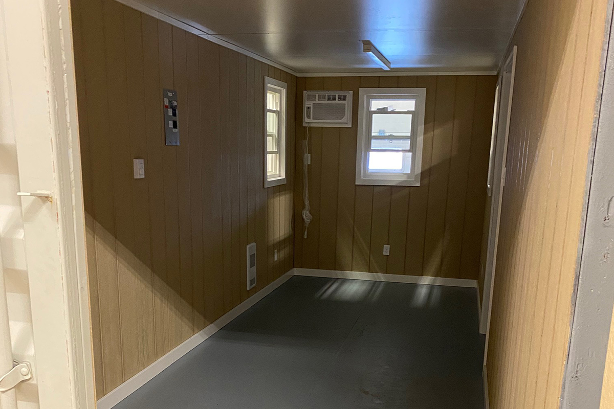 Shipping Container with smart panel on walls - TargetBox Container Rentals and Sales - Mobile