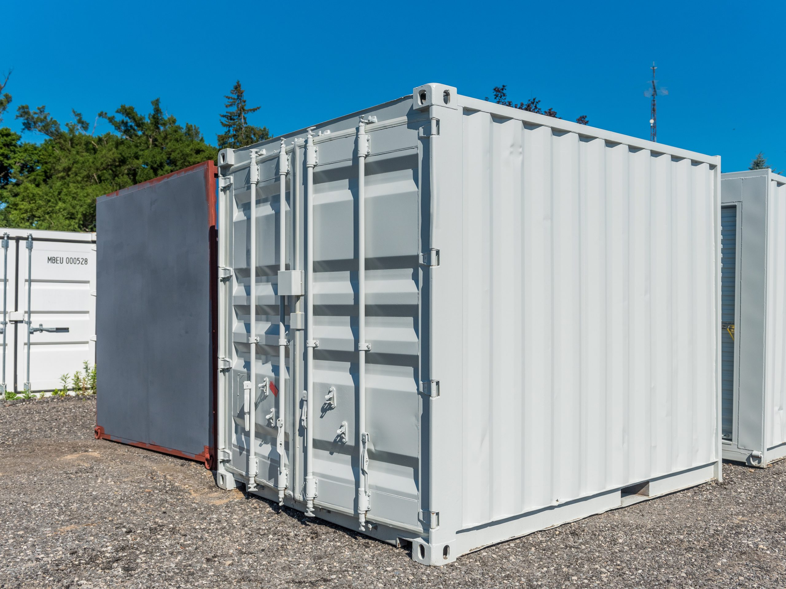10ft Painted Shipping Container With Barn Doors