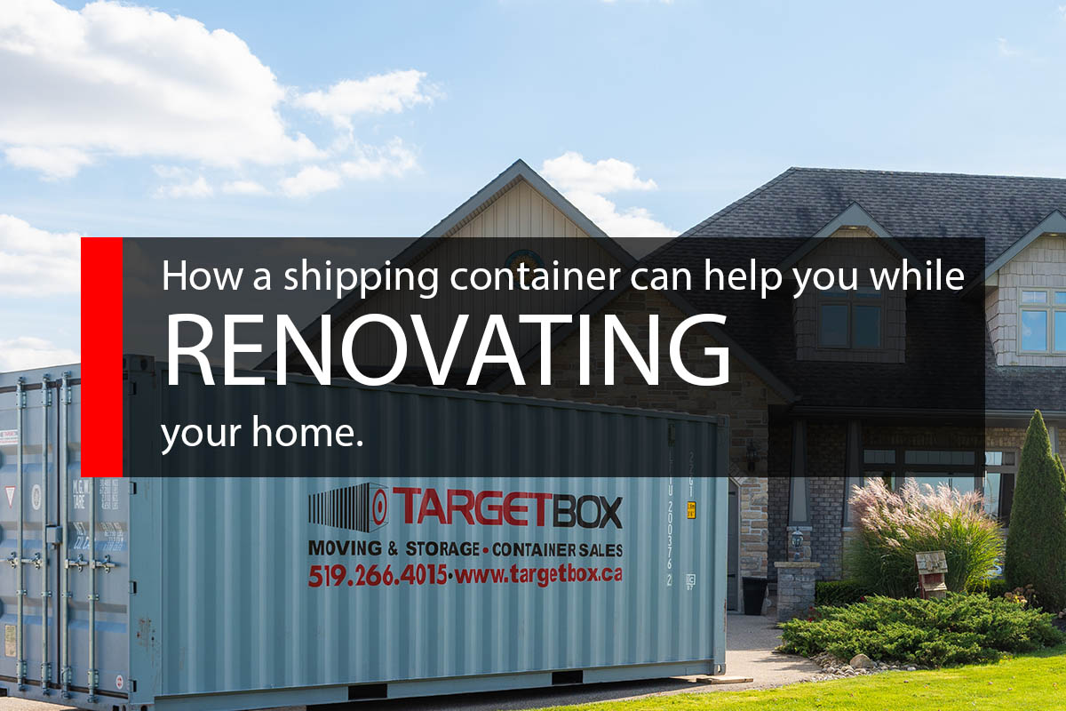 How A Shipping Container Can Help While Renovating Your Home - TargetBox Containers