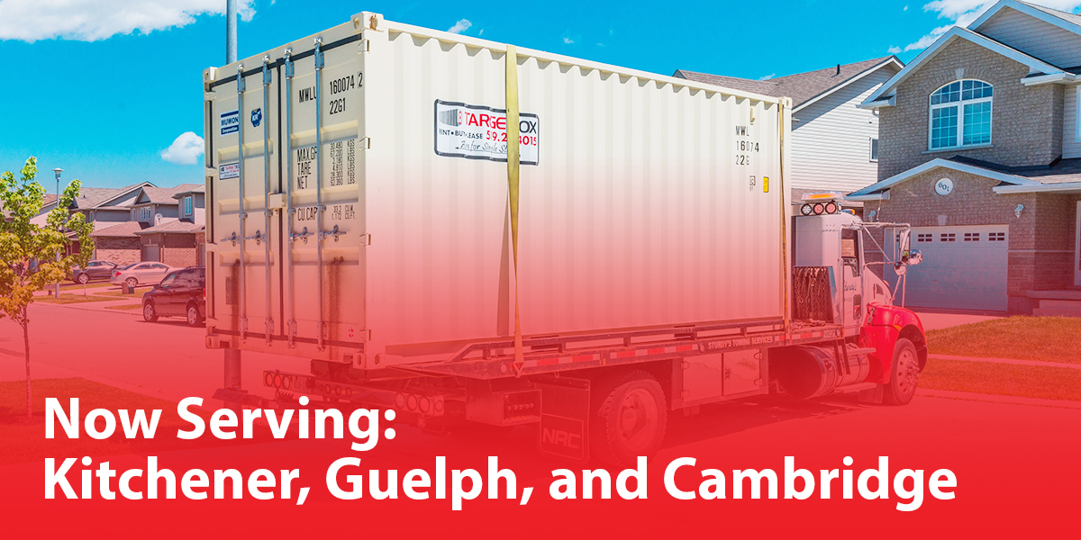 Now Serving Kitchener, Guelph, and Cambridge with Moving and Portable Storage Solutions