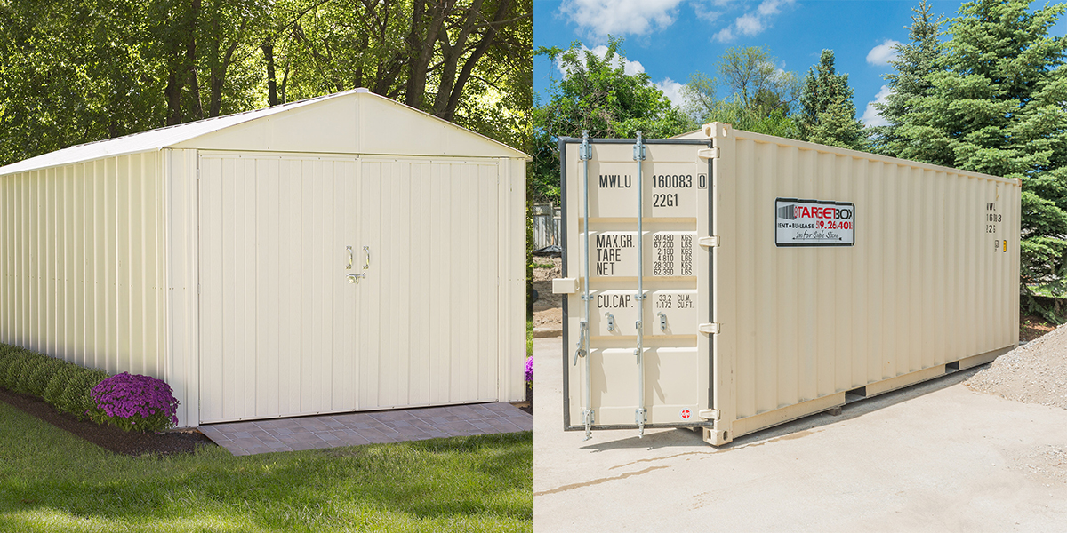 TargetBox - Article - Prefab Steel Sheds vs Shipping Containers